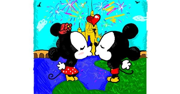 Mickey Mouse drawing by Mercy