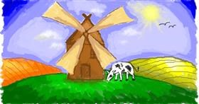 Windmill drawing by WindPhoenix