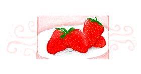 Strawberry drawing by 7y3e1l1l0o§