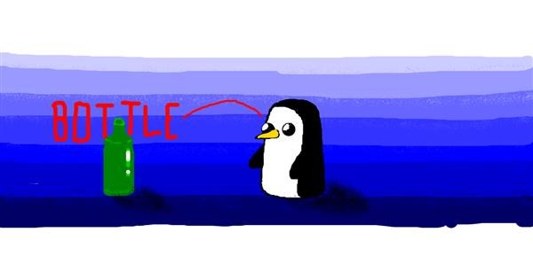 Penguin drawing by SANTA