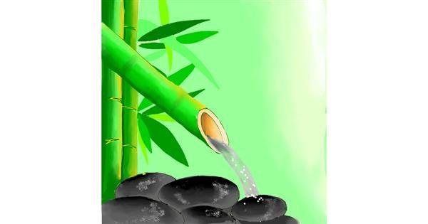 Bamboo drawing by Batman