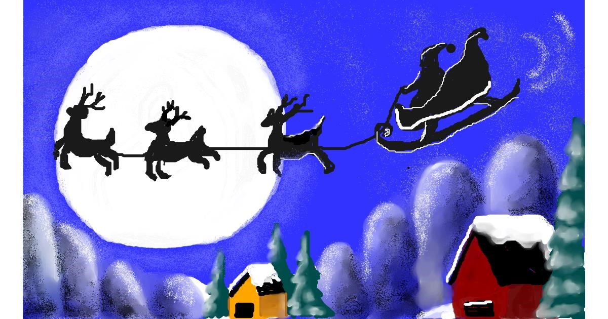 Sleigh drawing by MINNA