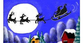 Drawing of Sleigh by MINNA