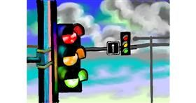 Traffic light drawing by SAM AKA MARGARET 🙄