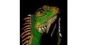 lizard drawing by Joze