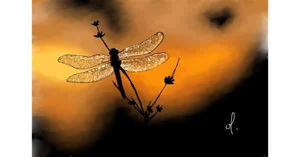 Dragonfly drawing by OLGI 🌺