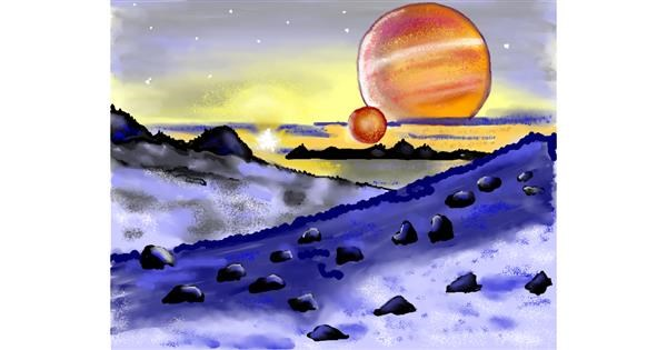 Planet drawing by Cec
