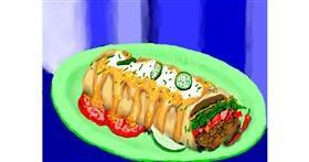 Burrito drawing by SAM AKA MARGARET 🙄