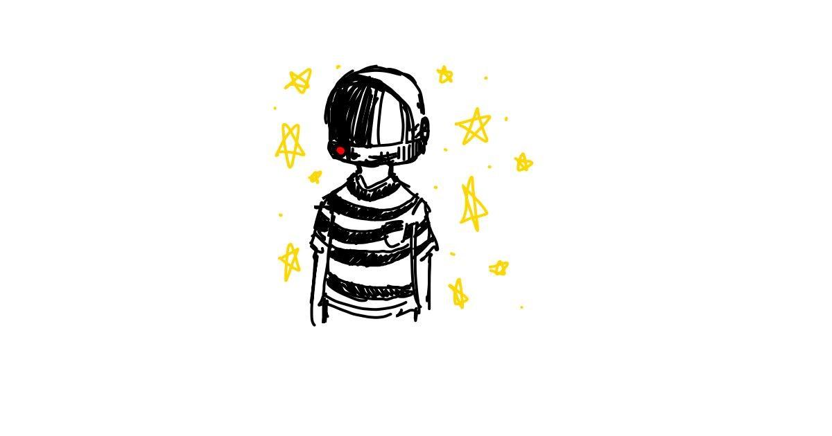 Astronaut drawing by Hoi mi boi