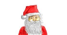Santa Claus drawing by Sam