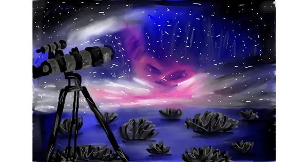 Telescope drawing by Soaring Sunshine