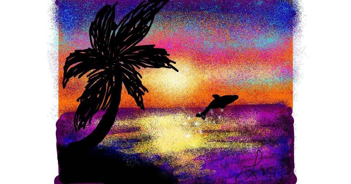 Palm tree drawing by Nonuvyrbiznis