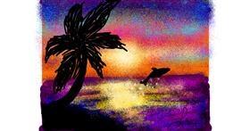 Drawing of Palm tree by Nonuvyrbiznis