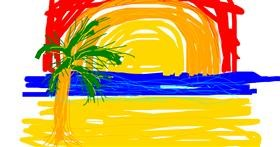 Beach drawing by Pong