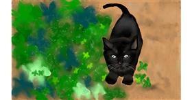 Drawing of Kitten by Tim