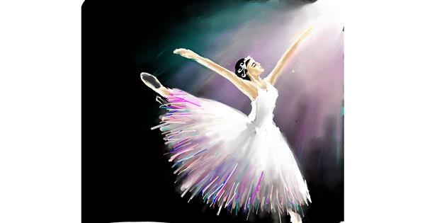 Ballerina drawing by Muni