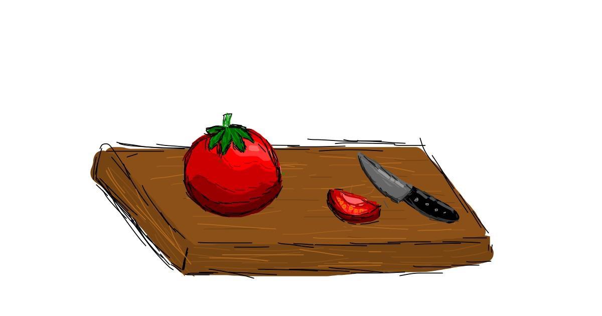 Tomato drawing by Bigoldmanwithglasses