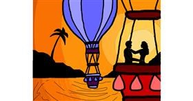Drawing of Hot air balloon by 🌹Rosas6🌹