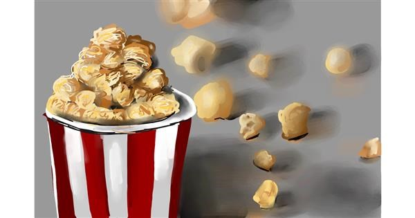 Popcorn drawing by Rose rocket