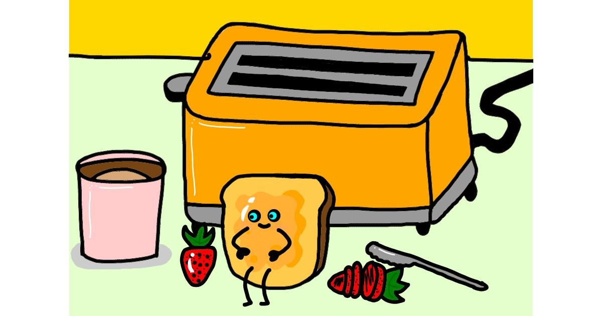 Toaster drawing by ♡Rocio♡