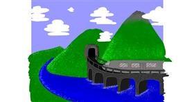 Train drawing by smol