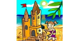 Sand castle drawing by Namie