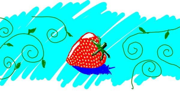 Strawberry drawing by mirage