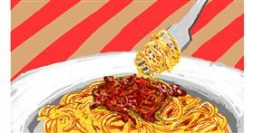 Spaghetti drawing by Sam