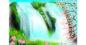 Drawing of Waterfall by Wizard