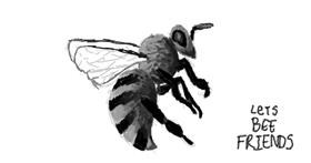 Bee drawing by Panther Liz