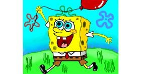 Spongebob drawing by Zi