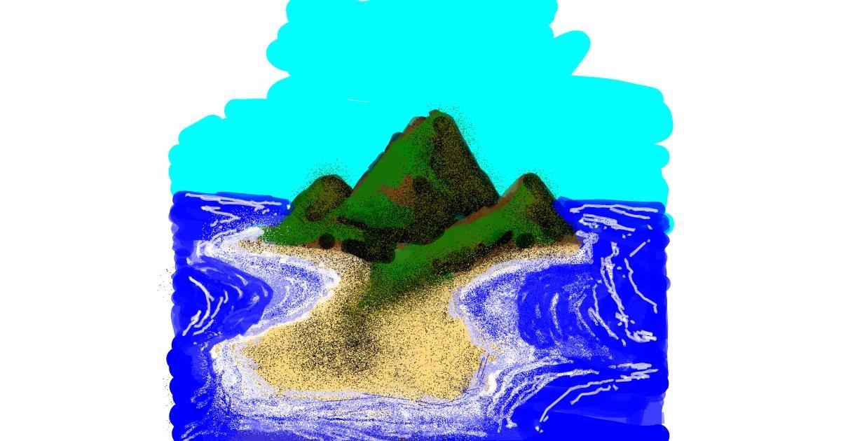 Island drawing by Dettale