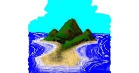 Island drawing by Dettale