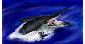 Swordfish drawing by Soaring Sunshine