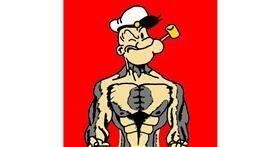 Popeye drawing by Psycho