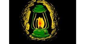 Drawing of Lamp by Akari