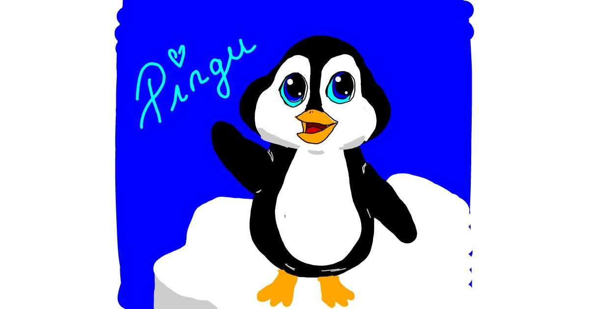 Penguin drawing by Laura96