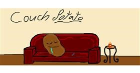 Drawing of Couch by Laum