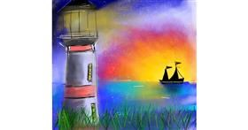 Drawing of Lighthouse by Zeemal