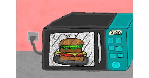 Microwave drawing by jake