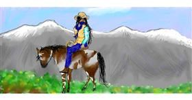 Drawing of Cowboy by Icefrost