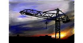 Crane (machine) drawing by Soaring Sunshine