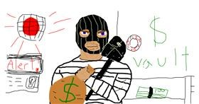 Burglar drawing by Terminator