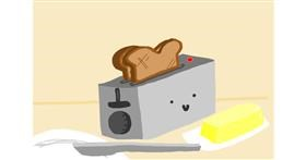 Toaster drawing by Redd_Pandaii