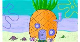 Pineapple drawing by loser eerawn