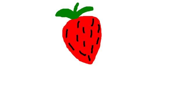 Strawberry drawing by Eva