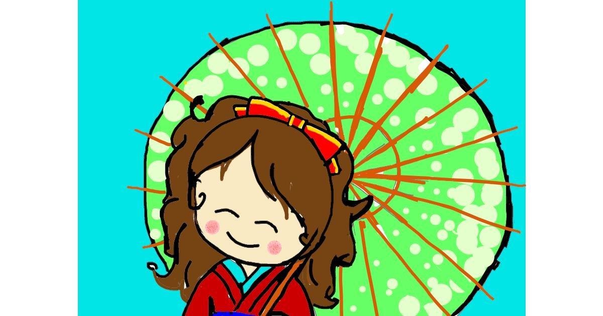 Umbrella drawing by Vicki