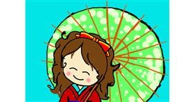 Drawing of Umbrella by Vicki