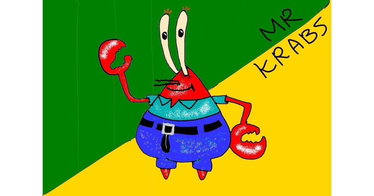 Mr. Krabs (spongebob) drawing by Lili