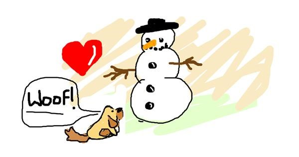 Snowman drawing by Rosa
